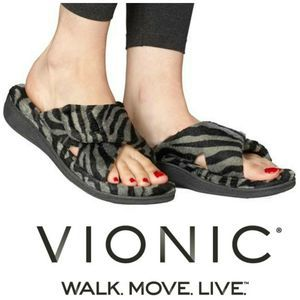 Vionic Relax Tiger Orthaheel Sandals Shoes Slides